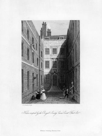 House Occupied by the Royal Society, Crane Court, Fleet Street, 1678-1760