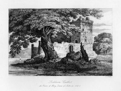 Lochleven Castle, Scotland, the Prison of Mary, Queen of Scots, 1840