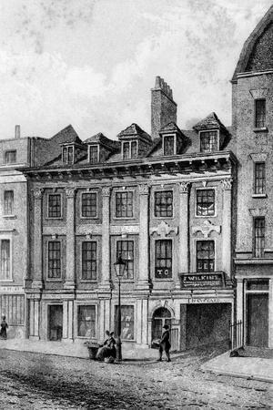 Residence of John Hoole, Great Queen Street, Lincoln's Inn Fields, London, 1840