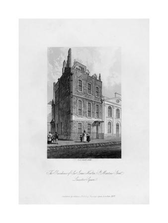 The Residence of Sir Isaac Newton, St Martin's Street, Leicester Square, 1840