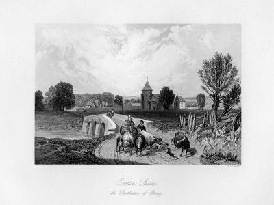 Trotton, Syssex, the Birth Place of Otway, 1840