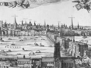 Panorama of London, 1616 by Claes Jansz Visscher