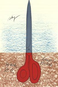 Scissors as Monument (No text) by Claes Oldenburg