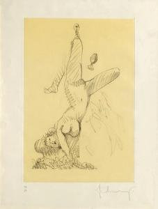 Woman Hanging in Imitation of the Soft Fan by Claes Oldenburg
