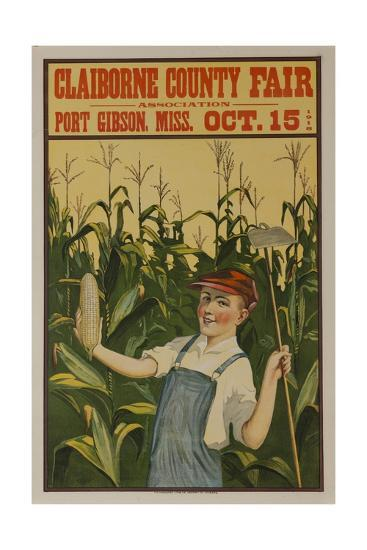 Claiborne County Fair, American Advertising Poster--Giclee Print