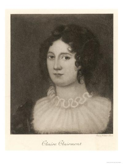Claire Clairmont Stepdaughter of William Godwin and Mother of Byron's Daughter Allegra--Giclee Print