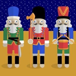 Christmas Nutcrackers - Good Luck Symbols by Claire Huntley