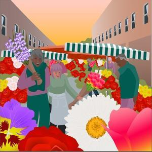 Flower Market at Columbia Road by Claire Huntley