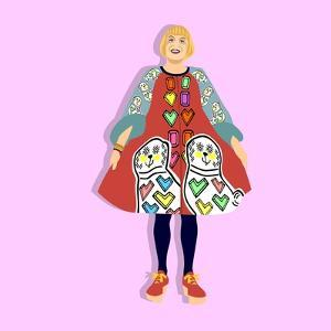 Portrait of Grayson Perry by Claire Huntley