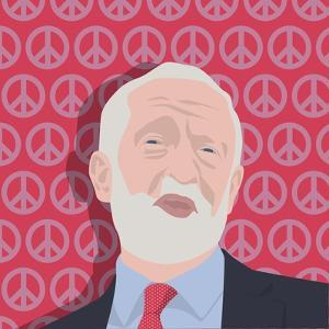 Portrait of Jeremy Corbyn by Claire Huntley