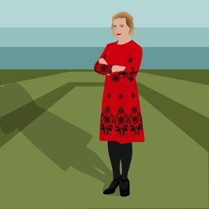Portrait of Lucy Worsley, English Historian, Author, Joint Chief Curator at Historic Royal Palaces by Claire Huntley