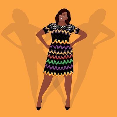 Portrait of Michelle Obama