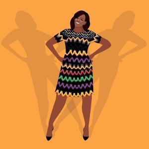 Portrait of Michelle Obama by Claire Huntley