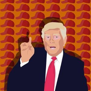 Trump and the baseball cap by Claire Huntley