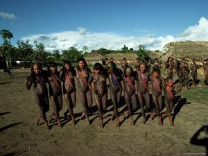 Xingu Dance, Brazil, South America by Claire Leimbach