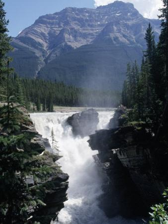Athabasca Waterfall in Jasper National Park, Alberta, Canada