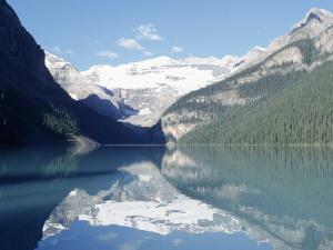 Lake Louise at Dawn, Alberta, CAN by Claire Rydell