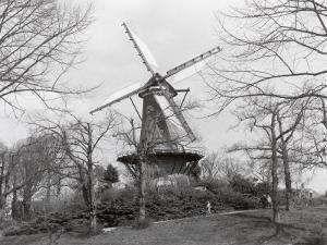 Windmill in Park, Alkmaar, Netherlands by Claire Rydell