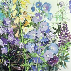 Delphiniums and Foxgloves by Claire Spencer