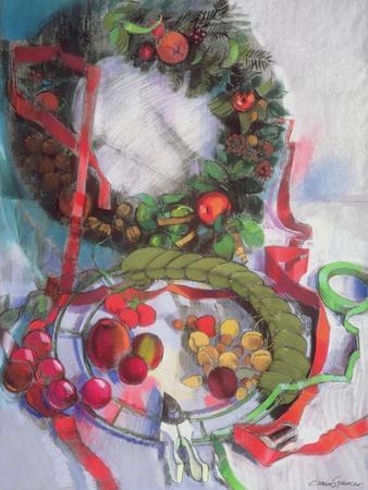 Making of Christmas Garlands