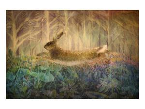 Giant Hare leaps by Claire Westwood