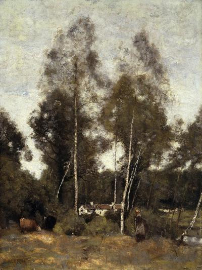 Clairiere Pierre du Bois, the Evaux, near Chateau-Thierry-Jean-Baptiste-Camille Corot-Giclee Print