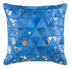 """Clairton Metallic Cowhide 20""""X20"""" Pillow"""