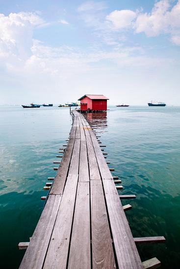 Clan Jetty Boardwalk, Penang-Will Tan-Photographic Print