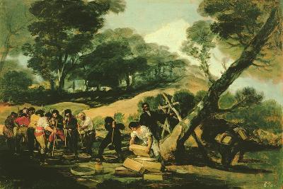 Clandestine Manufacture of Gunpowder, 1812-13-Francisco de Goya-Giclee Print