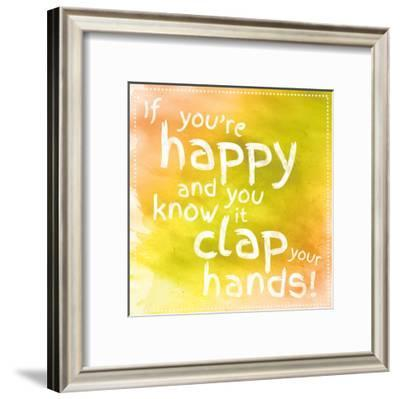 Clap Your Hands 2-Lauren Gibbons-Framed Art Print