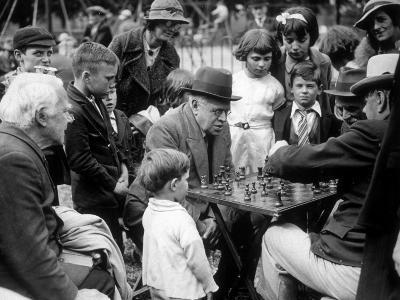 Clapham Chess--Photographic Print