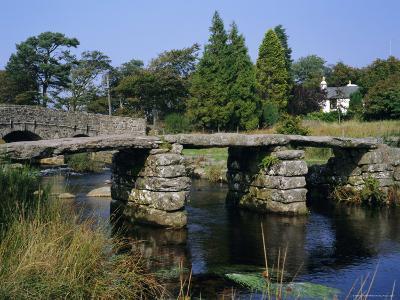 Clapper Bridge, Postbridge, Dartmoor, Devon, England, UK-Roy Rainford-Photographic Print