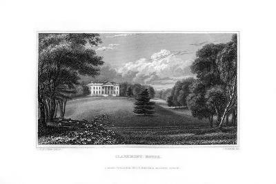 Claremont House, Esher, Surrey, 1829-J Rogers-Giclee Print