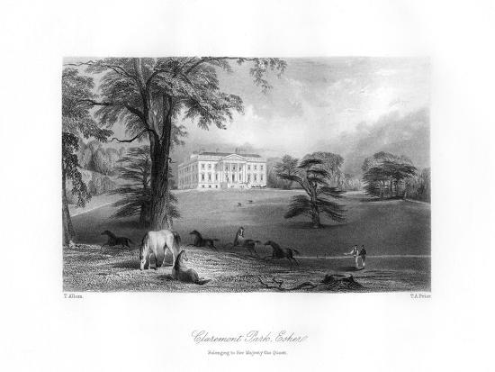 Claremont Park, Esher, Surrey, 19th Century-TA Prior-Giclee Print