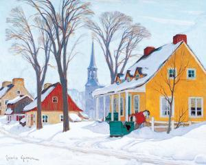 Winter Morning in Baie-St-Paul by Clarence Alphonse Gagnon