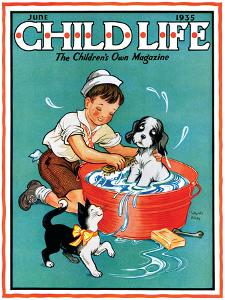 Time For a Bath - Child Life, June 1935 by Clarence Biers
