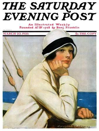 """Daydreams at Sea,"" Saturday Evening Post Cover, March 20, 1926"