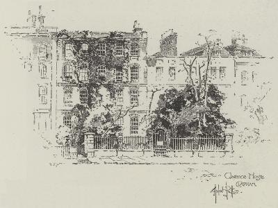 Clarence House in Clapham-Herbert Railton-Giclee Print