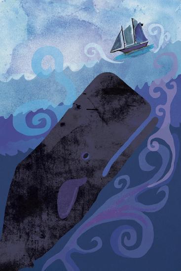 Clark Whale and Ship 5-Erin Clark-Giclee Print