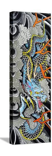 Clarks Blue Dragon-Clark North-Stretched Canvas Print