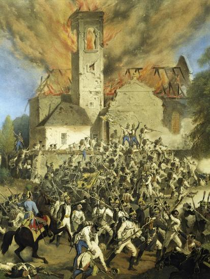 Clashes Between the French and Austrians for the Capture of Vienna--Giclee Print