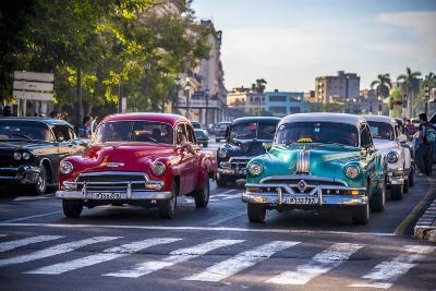 Classic 1950S American Cars, Cuba-Alan Copson-Photographic Print