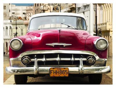 Classic American car in Habana, Cuba-Gasoline Images-Art Print