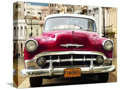 Classic American car in Habana, Cuba-Gasoline Images-Stretched Canvas Print
