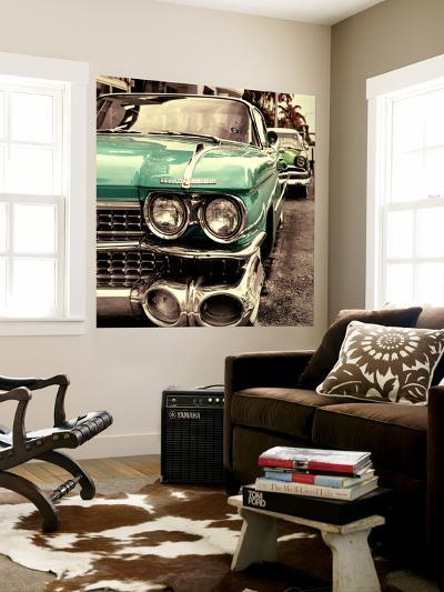 Classic Cars of Miami Beach-Philippe Hugonnard-Wall Mural