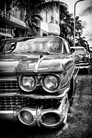 Classic Cars of Miami Beach-Philippe Hugonnard-Photographic Print