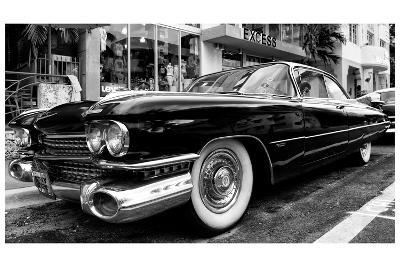 Classic Cars on South Beach - Miami - Florida-Philippe Hugonnard-Photographic Print