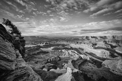 Classic Dead Horse Point in Black and White, Moab Utah--Photographic Print