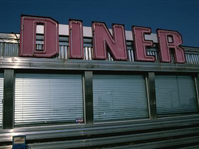 Classic Diner Sign To Pull in Hungry Patrons-Stephen St^ John-Photographic Print