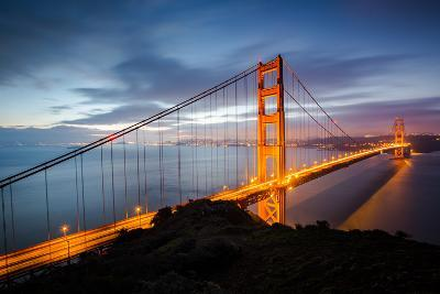 Classic Good Morning View Golden Gate Bridge San Francisco-Vincent James-Photographic Print